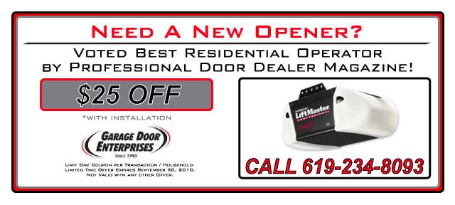Garage Door Opener Coupons