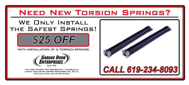 Garage Door Springs Coupons